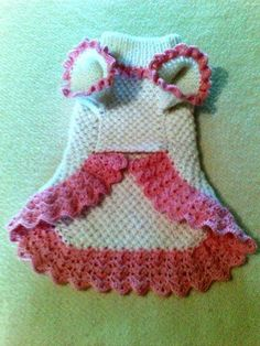 Free Crochet Pattern Dog Dress ~ Dancox ForYou can find Dog dresses and more on our website.Free Crochet Pattern Dog Dress ~ Dancox For Crochet Dog Sweater Free Pattern, Knit Dog Sweater, Crochet Patterns, Sweater Patterns, Doily Patterns, Dress Patterns, Knitting Patterns, Small Dog Clothes, Pet Clothes