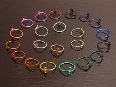 22 Toe Rings in Gold, Silver, Copper, Aluminum, and 16 colors of Enameled Copper.