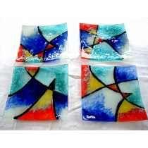 Platos Vitrofusión 12x12 18x18 21x21 27x27 Vidrio Diseño Fused Glass Plates, Ceramic Plates, Glass Bowls, Pottery Bowls, Ceramic Pottery, My Glass, Glass Art, Mosaic Glass, Stained Glass