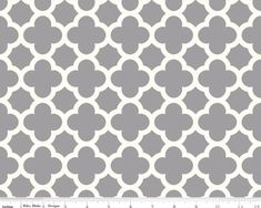 Home Dec Quatrefoil Gray 54 Wide Cotton Duck Fabric from
