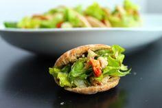 Mini Greek Salad Pita Pockets