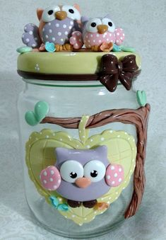 Resultado de imagen para vidros decorados com biscuit para banheiro