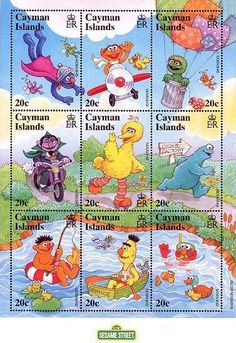 Cayman Islands Muppet stamps