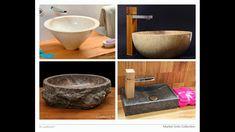 Get to know our marble sinks - marble stone washbasins. Stone Bathtub, Stone Sink, Pedestal Sink, Vessel Sink, Bathroom Inspiration, Interior Design Inspiration, Interior Design Magazine, Stone Countertops, Basins