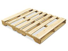 """48 x 42"""" Recycled Hardwood Pallet. to make my own platform bed."""