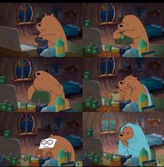 59 Ideas for memes cartoon network 59 Ideen für memes cartoon network 3 Bears, Cute Bears, We Bare Bears Wallpapers, Cute Wallpapers, Cartoon Pics, Cartoon Characters, Cartoon Network, Drama Memes, Bear Wallpaper