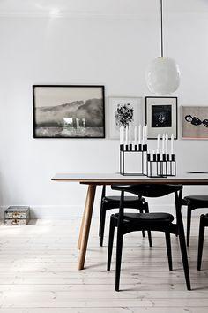 """För ett par veckor sedan höll jag en """"tavel-hängar-skola"""" på Rum21's kundkväll och när jag sökte inspirationsbilder till min presentation fastnade jag för den här interiören plåtad av Morten Holtum…"""