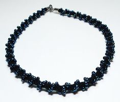 Black Choker Necklace Jewelry Kumihimo Black by epicstitching