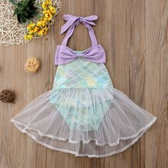 Magical Mermaid Tulle Swimsuit from kidspetite.com! Adorable & affordable baby, toddler & kids clothing. Shop from one of the best providers of children apparel at Kids Petite. FREE Worldwide Shipping to over 230+ countries ✈️ www.kidspetite.com #swimwear #swim #infant #beach #newborn #swimsuit #baby #girl Romper Dress, Baby Dress, Baby Girl Swimwear, Hot Dads, Swimsuit Material, Baby Mermaid, Two Piece Swimsuits, Baby Month By Month, Cheap Dresses