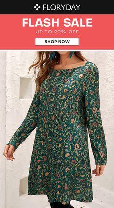 Floral tunic round neckline dress, floral dress, elegant, limited supply.