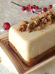Bûche panna cotta vanille, cookie et crème de marrons (vegan) Panna Cotta, Gateaux Vegan, Green Christmas, Cookies Et Biscuits, Agar Agar, Flan, Party Cakes, Vegan Recipes, Vegan Food