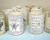 Dictionary and Sheet Music Tea Lights
