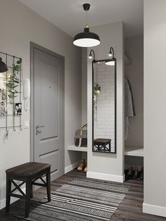 Ideas for apartment entryway decor Interior Design Living Room, Living Room Decor, Flur Design, Hallway Designs, Small Apartments, Room Colors, Entryway Decor, Apartment Entryway, Home And Living