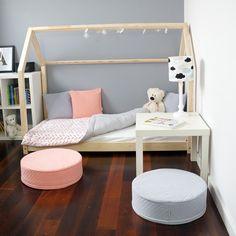Kinderbett aus Holz in Hausform / kid's bed made of wood as little house made by Benlemi via DaWanda.com