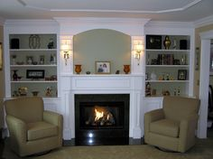 Built in Shelves around Fireplace | Creatively Designed with Quality Workmanship... something you will be ...