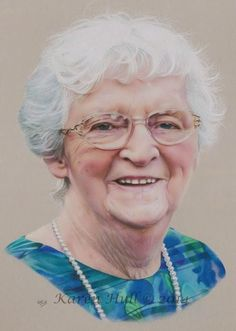 """Val"", 11 x 14 inches, Coloured Pencils on Mat Board - by Karen Hull of 'Karen Hull Art'"