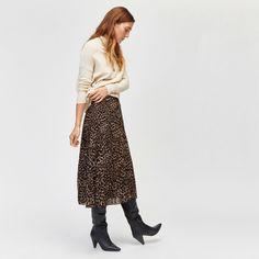 97f9d3fd55 Miss Selfridge PREMIUM Metallic Pleated Midi Skirt ($95) ❤ liked on ...