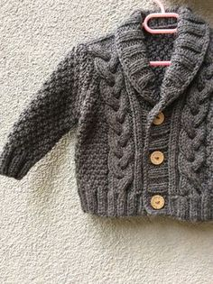 Grey Knitted Baby Cardigan, Baby Boy Cable Sweater Coat, Cute Hand Knit Newborn Boy Coming Home Outfit Clothes, New Born Baby Knitwear, Gift Knit Baby Sweater Hand Knitted Grey Baby Cardigan by Istanbulknit Baby Boy Cardigan, Cardigan Bebe, Knitted Baby Cardigan, Knit Baby Sweaters, Knitted Coat, Cable Sweater, Boys Sweaters, Cotton Sweater, Baby Vest