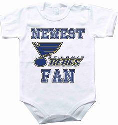 Hey, I found this really awesome Etsy listing at https://www.etsy.com/listing/183551057/baby-bodysuit-newest-fan-st-louis-blues