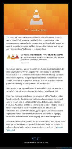 La verdadera historia detrás de por qué el logo de VLC es un cono de tráfico - Y la verdad tras el cono de su logo   Gracias a http://www.cuantarazon.com/   Si quieres leer la noticia completa visita: http://www.estoy-aburrido.com/la-verdadera-historia-detras-de-por-que-el-logo-de-vlc-es-un-cono-de-trafico-y-la-verdad-tras-el-cono-de-su-logo/