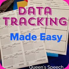 """This year will be my fifth year as an SLP. I would like to say at this time that I have data tracking mastered. However, I can't seem to find """"something"""" that works consistently. I am not sure that """""""