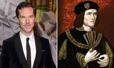 Professor Kevin Schurer from the University of Leicester revealed that Benedict Cumberbatch and Richard III are third cousins, 16 times removed.