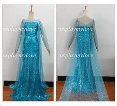 Cosplaymylove - Frozen Elsa Dress The Snow Queen Dress Cosplay Costume For Any Size, $106.61 (http://www.cosplaymylove.com/frozen-elsa-dress-the-snow-queen-dress-cosplay-costume-for-any-size/)