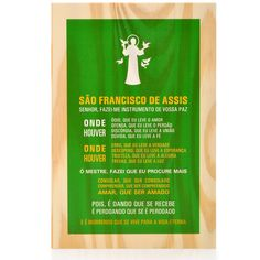 Tábua Oração São Francisco