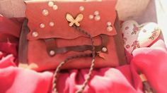 Leather princess tobacco case with faux perles and by bizeli, €14.00