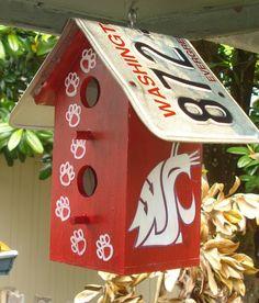 WSU Cougar Birdhouse. GO COUGS!!!!!! My Alumni :)
