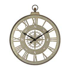 20 5 Quot H Iron Outdoor Galvanized Clock Silver Threshold