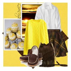 """Lemon & ""Chocolate"" by queenvirgo on Polyvore featuring Bomedo, P.A.R.O.S.H. and Elizabeth and James"