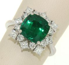 On the twelfth day of Christmas my true love gave to me...twelve drummers drumming!  Drum roll please...  This extra fine, over 3 carat Zambian Emerald ring with diamond deserves a round of applause! #12daysofsparkle