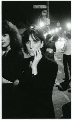 Patti Smith, i think she has one of the prettiest voices ever