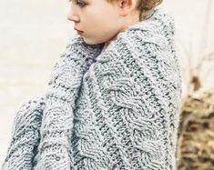 Crochet Afghan Pattern Blanket The Nancy Afghan Crochet Crochet Lacy Scarf, Crochet Cable Stitch, Chunky Crochet, Afghan Crochet Patterns, Baby Blanket Crochet, Crochet Baby, Crochet Afghans, Latte, Chunky Babies