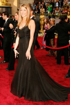 78th annual academy awards in a black rochas gown with bulgari jewels and a lana marks alligator clutch