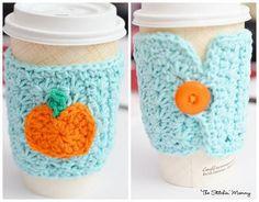 DIY Mug Cozy DIY Crochet Star Stitch Pumpkin Coffee Cozy DIY Mug Cozy