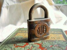 Vintage Yale Brass Padlock by UncleJimmysAttic on Etsy