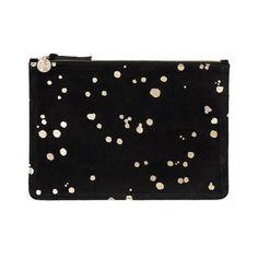 e417b8d0b781 Margot Flat Clutch Chambray, Black Suede, Brass Hardware, Handbags, Purses,  Supreme
