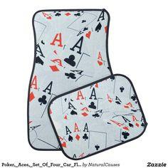 Poker,_Aces,_Set_Of_Four_Car_Floor_Mats Car Mat