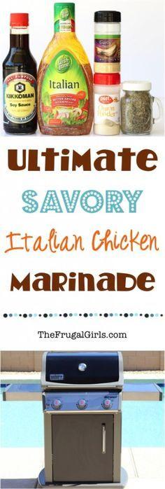 Savory Italian Chicken Marinade Recipe from TheFrugalGirls.com
