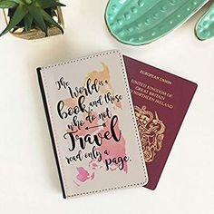 World is a Book Passport Cover for Men & Women: Amazon.co.uk: Luggage