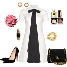 Valentino Black & White Dress outfit created by tsteele