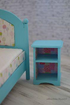 Pikkuprinsessan nukkekoti Willa Helmiina/Dollhouse to my little Princess: Värikäs lastensänky/Colorful children's bed