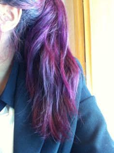 ECR hair color cream - purple. photo taken March 26th, 2014 (iphone front camera )