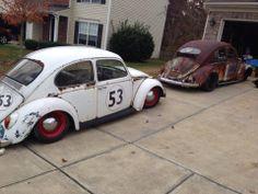 Rusty old Bugs Beatles Vans, Vw Rat Rod, Vw Super Beetle, Kdf Wagen, Hot Vw, Vw Classic, Sand Rail, Vw Vintage, Vw Beetles