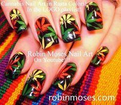 "Robin Moses Nail Art: ""pot leaf"" ""pot nails"" ""pot leaves ..."