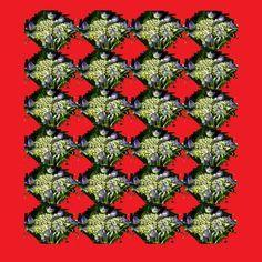 """Saatchi Art Artist Heather Bolton; Collage, """"Hydrangea on Red No1"""" #art"""