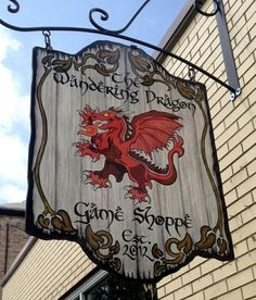 Sign Game Shop - The Wandering Dragon.