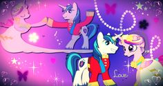 Princess Cadence and Shining Armor love wallpaper by AmazingPony on DeviantArt
